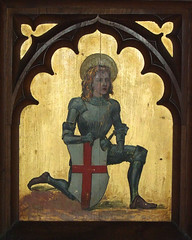 altarpiece: St George with the shield of England (early 20th Century)