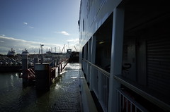 leaving Den Helder on the ferry to Texel