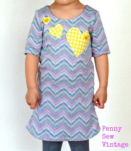 Applique Hearts Skola Dress | by pennysewvintage