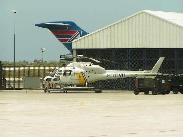 AS-355F.1 Ecureil PH-HVH c/n 5215 Dutch Coast-Guard. Curacao-Hato airfield. 03-06-2006.