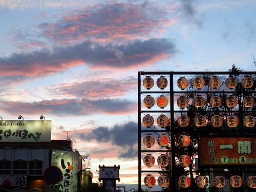 sunset sky japan iwate 日本 fujifilm s1 岩手県 ichinoseki 祭 一関市 finepixs1