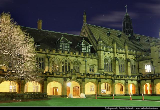 Quadrangle @ Night, University of Sydney, Australia