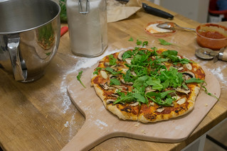 Mushroom and Arugula Pizza | by haldean
