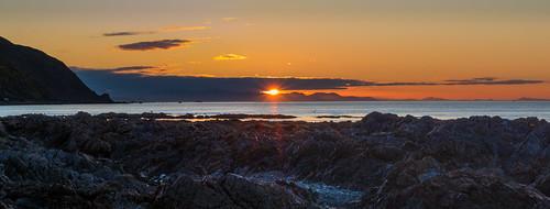 sunset newzealand seascape nature landscape evening bay nz wellington northisland coastline porirua pukeruabay coastallandscape