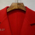 151027110A33-02 双面羊毛大衣 SML 红色 灰白色 粉色S码胸92长85 (1)