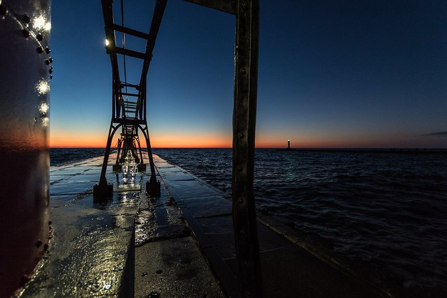 I could stay in this moment forever.  #GrandHaven #Lighthouse #Pier #LakeMichigan #Waves #Sunset #MagicHour #GoldenHour #Michigan #PureMichigan