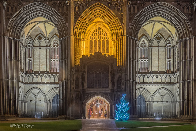 West Front Arches Christmas 2015