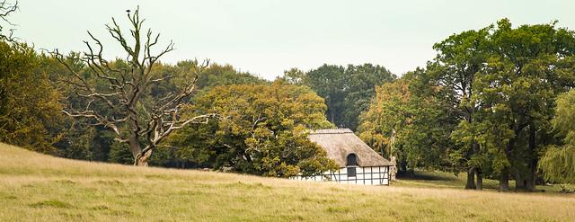 Old timberframed house in Dyrehaven, Charlottenlund, Denmark.