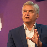 Iain Macwhirter | Iain Macwhirter talks about the fast-changing nature of British politics in his Book Festival event © Alan McCredie