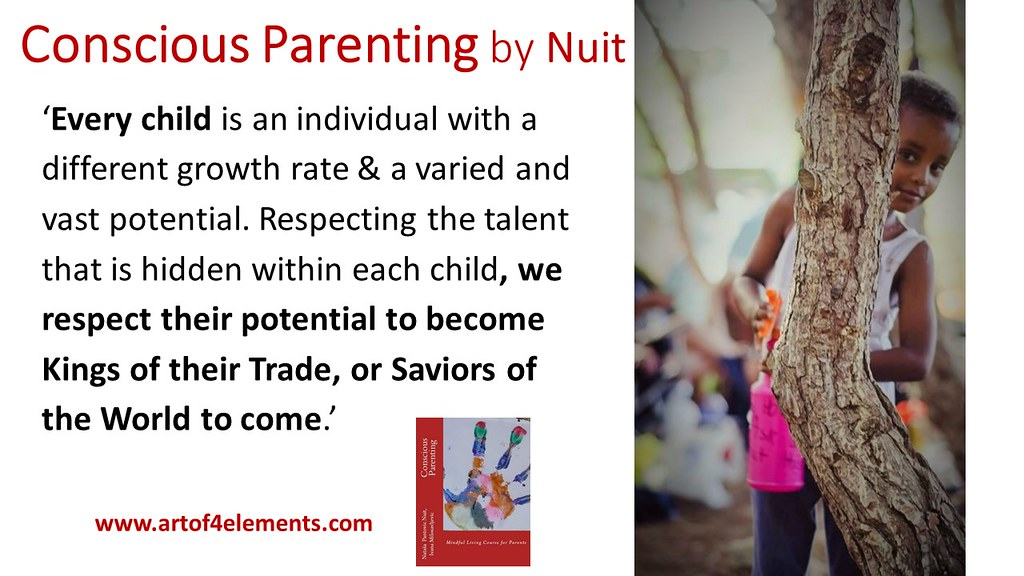 Conscious Parenting by Nataša Pantović quote each Child has a different growth rate