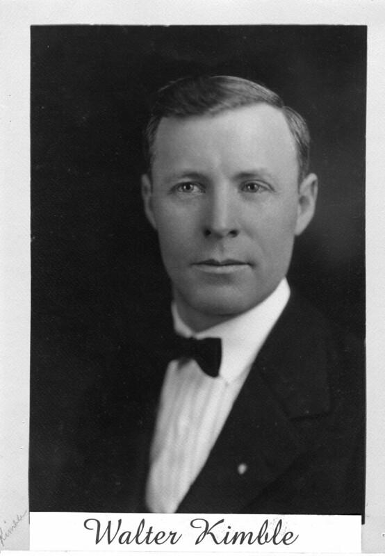 1929 or so - Walter Kimble