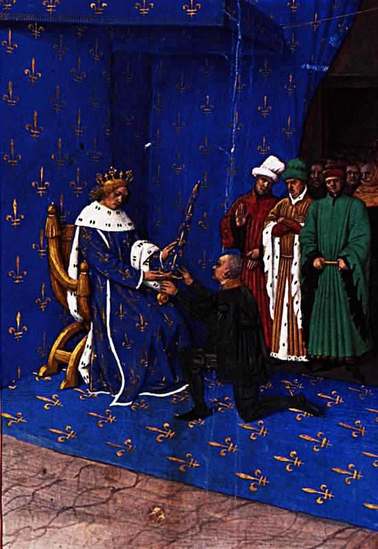 fouquet_charles_v_gives_sword_constable_bertrand_du_guesclin_1460