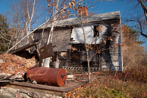 webster nh colonial abandoned burned empty house newengland