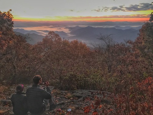 sunrise at appalachian trail october nc 2016 fall foliage clouds bryson city