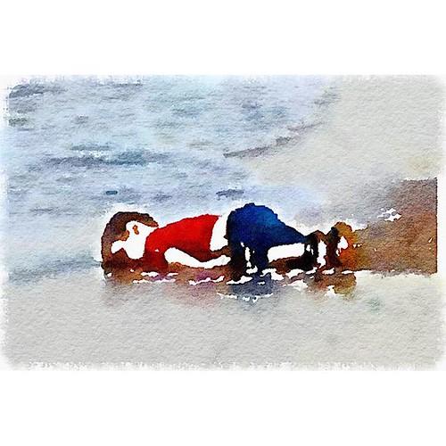 Aylan Kurdi Made in #waterlogue