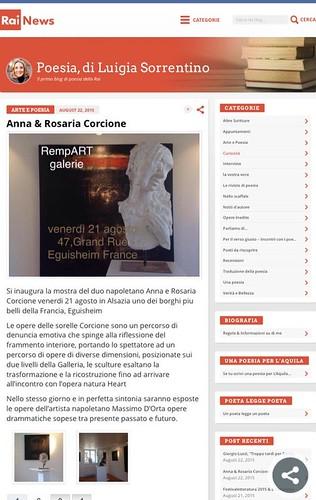 Rassegna stampa Rainews RempART   by galerierempart