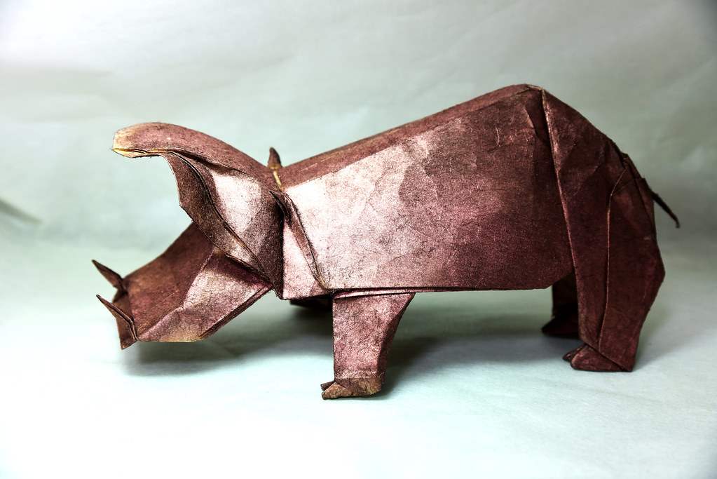How to make an origami Hippo (Jose Herrera) - YouTube | 683x1023