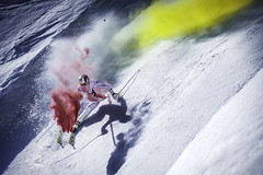 Marcel Hirscher performs during the project 'Marcel Hirscher Colours' at Reiteralm near Schladming, Austria on March 24th, 2015 // Markus Berger / Red Bull Content Pool // P-20150407-00033 // Usage for editorial use only // Please go to www.redbullcontentpool.com for further information. //