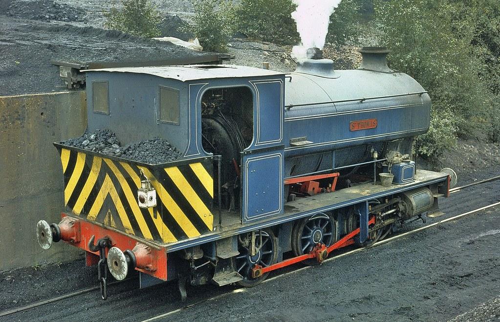 St THOMAS an Avonside 0-6-0 saddletank at Snowdown Colliery Kent