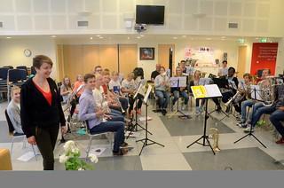 Repetition i Frälsningsarmen, Bergen. Anne-Grethe Amlann (f.d. Brevik) jobbar där.