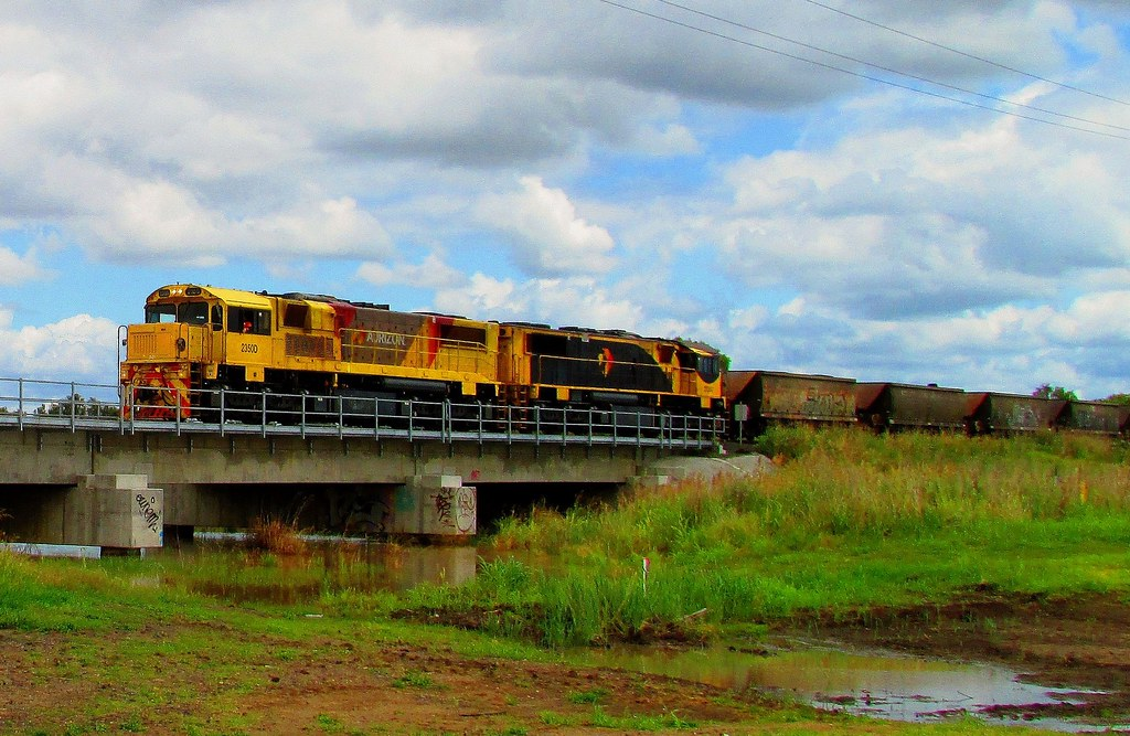 Aurizon - Loaded Coal Service, Forest Hill QLD by Shawn Stutsel