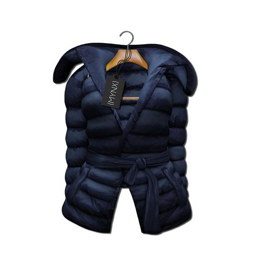 {MYNX} Puffy Tie Jacket - Navy Ad