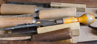 Colonial Williamsburg Virginia Carpenter and Joiner shop wood  tools chisel file | by watts_photos