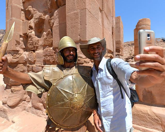 En Petra con un romano en Verano