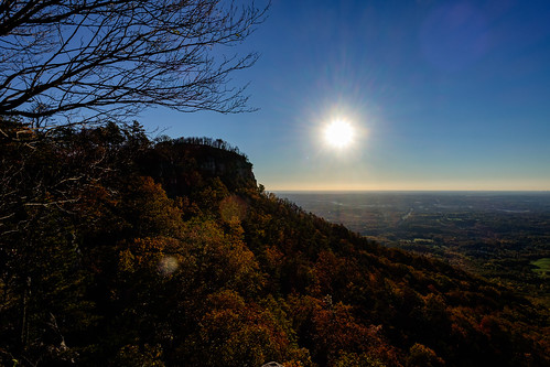 statepark park morning autumn trees mountain fall lens dawn us nc unitedstates state north northcarolina lensflare flare carolina fujifilm pilot pinnacle pilotmountain pilotmountainstatepark xt10 xf14