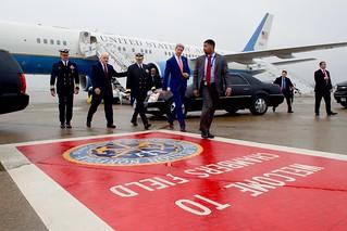 Secretary Kerry Arrives at Naval Station Norfolk