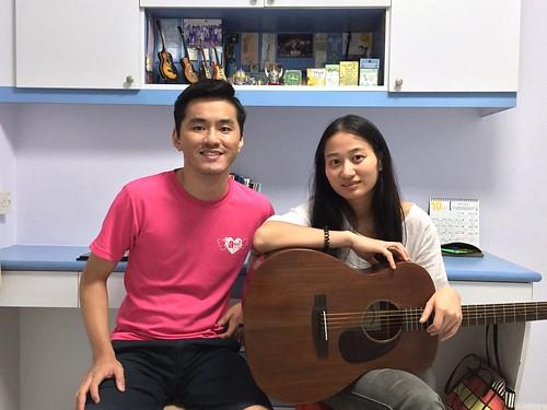 Beginner guitar lessons Singapore Xia Yu