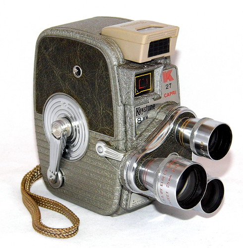 Vintage Keystone Model K-27 Rollfilm Triple Turret 8mm Movie Camera, Made In USA, Circa 1958 | by France1978