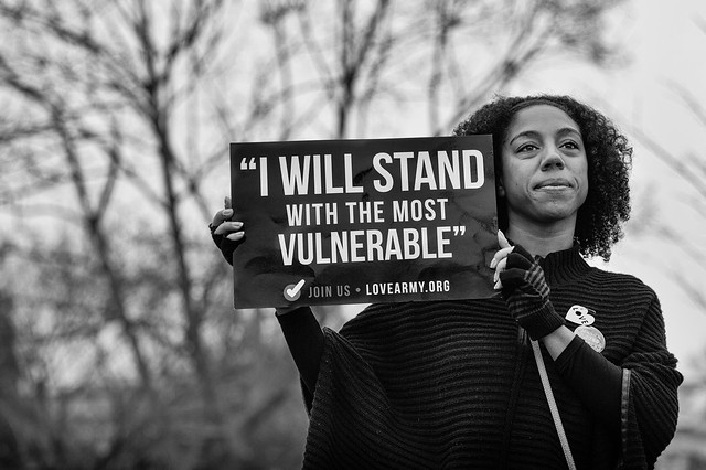 I Will Stand With The Most Vulnerable, Women's March 2017 Washington DC