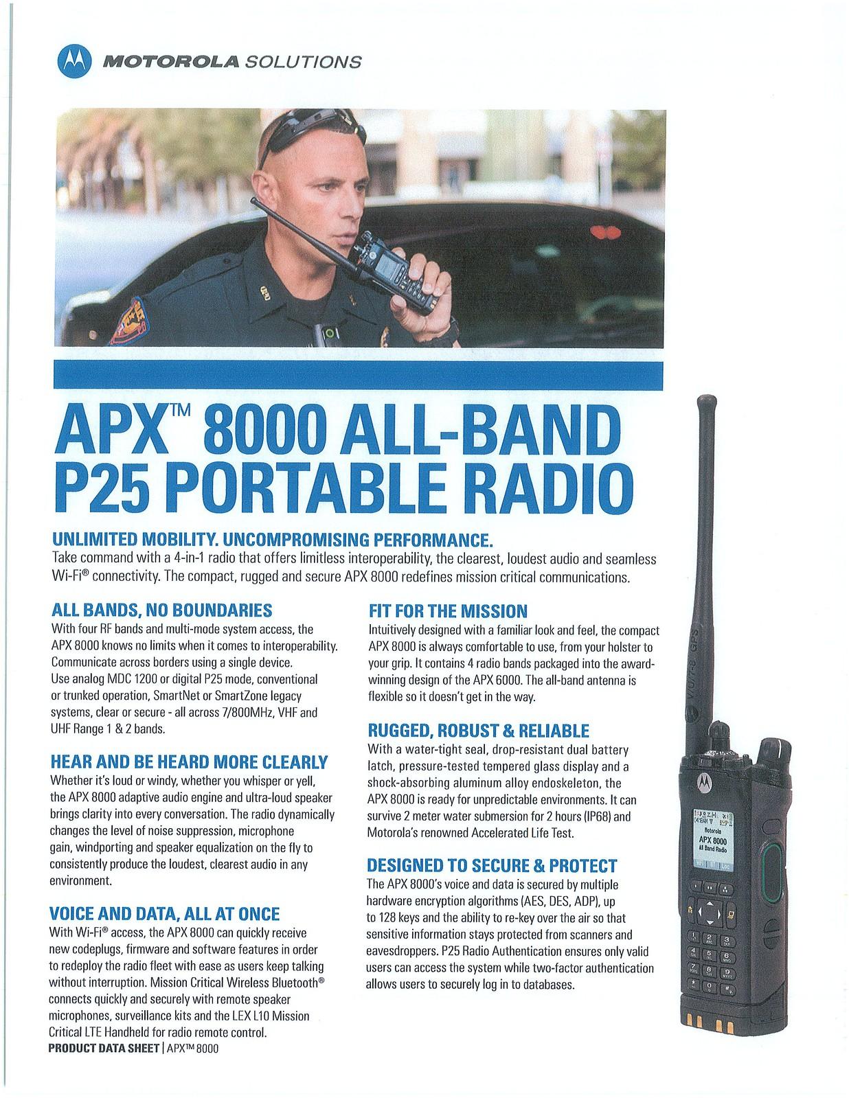 PORTABLE RADIOS — Fire Mutual Aid