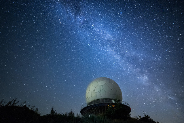 Shooting Star and the Milky-Way