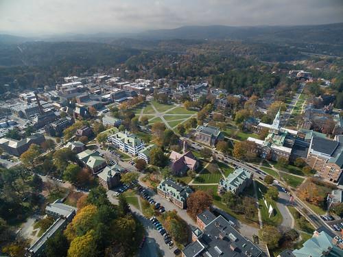 autumn fall campus aerial dartmouth