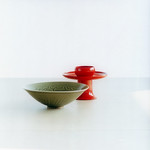 celadon bowl and lacquer tea cup stand 耀州窯碗與日本漆器