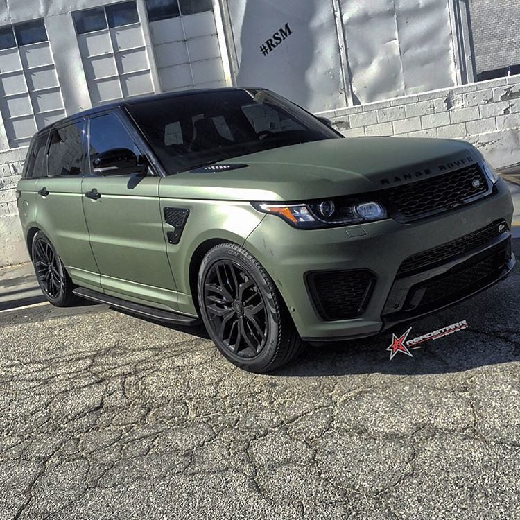 Matte Army Green Is The New Matte Black Range Rover Sport