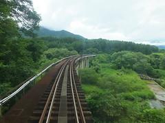 会津鉄道の加藤谷川橋梁