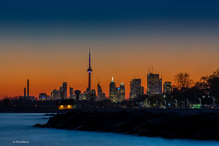 Toronto after fiery sunset from Balmy Beach (25 sec exposure) | by Phil Marion (176 million views - THANKS)