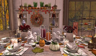 Thanksgiving 2015- Welcome Tablescape | by Hidden Gems in Second Life (Interior Designer)