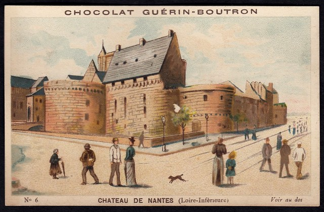 French Tradecard - Chateau de Nantes