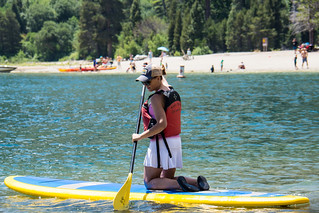 Kneeling on a stand up paddleboard - South Lake Tahoe | by m01229