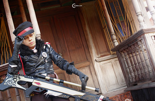 Abu Tendencia cosplaying Kess Kielce of Granado Espada during XM3
