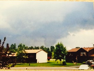 1986 Anoka Tornado, as seen from our Brooklyn Park house