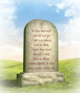 Egy sírfelirat kiválasztása nem könnyű feladat.