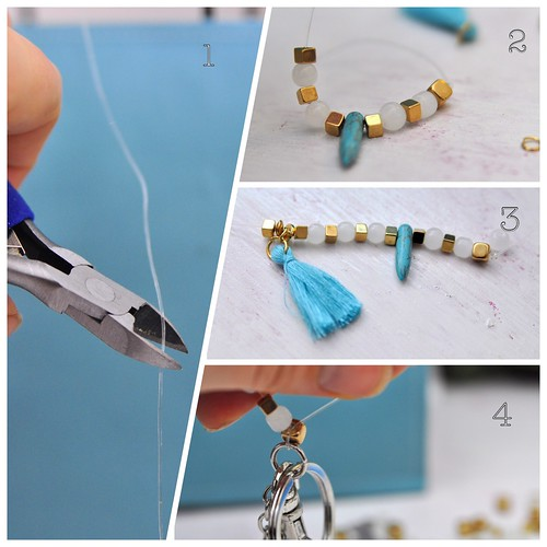 key chain with pearls diy | by Cattiva Kat