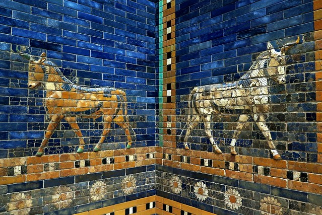 Pergamon Museum in Berlin - Part of the Ishtar Gate and the Processional Way of Babylon [Explore 14/10/2016]
