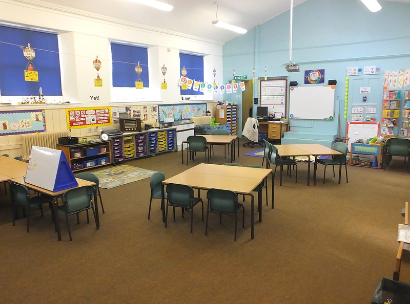 School Classroom Panoramic View - Creative Commons Attribution Only