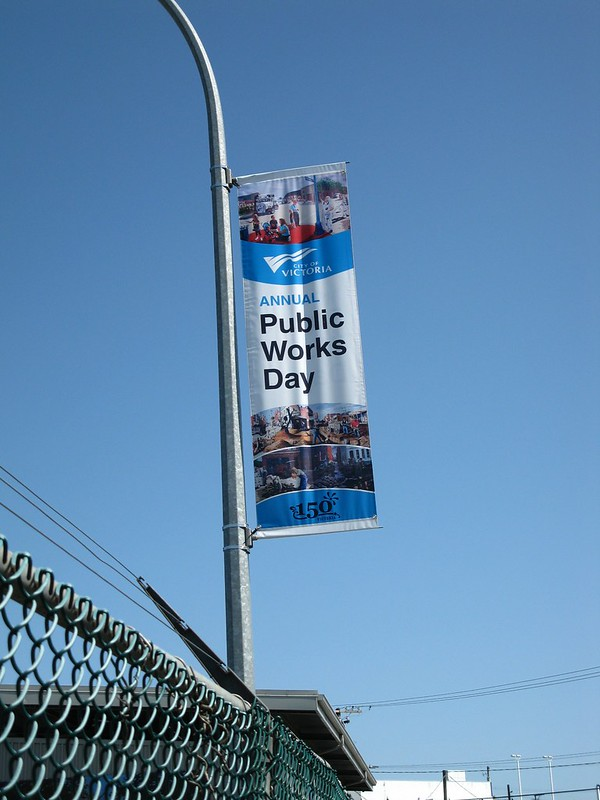 City of Victoria pole banner
